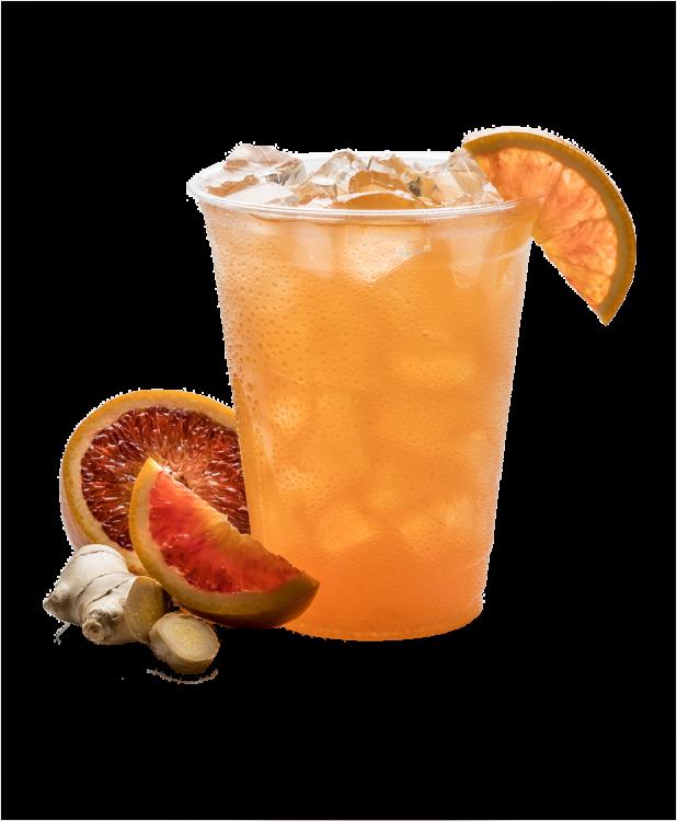 Blood Orange Ginger Lemonade